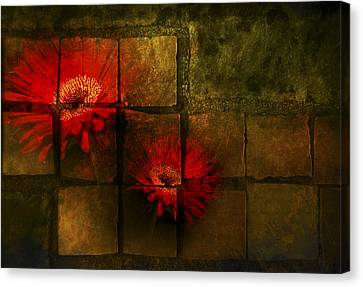 Flower Tiles Canvas Print by Michael Huddleston