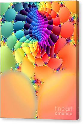 Flowering Fractal Fruit Tree Canvas Print by Rebecca Phillips