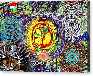 Flowering Shiva Canvas Print by Jason Saunders