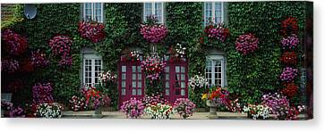 Flowers Breton Home Brittany France Canvas Print by Panoramic Images