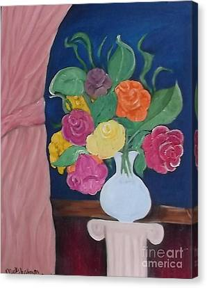 Flowers For Madear Canvas Print by Mildred Chatman
