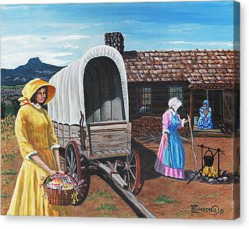 Flowers For The Homestead Canvas Print by Timithy L Gordon