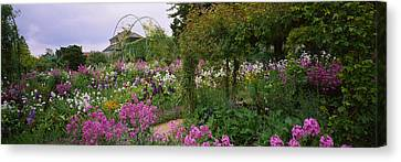 Flowers In A Garden, Foundation Claude Canvas Print by Panoramic Images