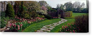 Flowers In A Garden, Ladew Topiary Canvas Print by Panoramic Images