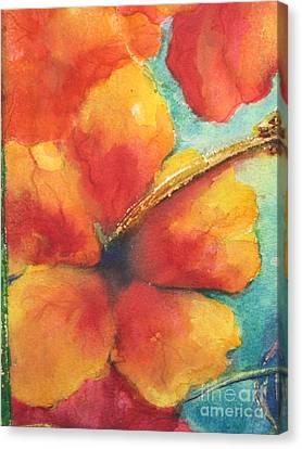 Flowers In Bloom Canvas Print by Chrisann Ellis