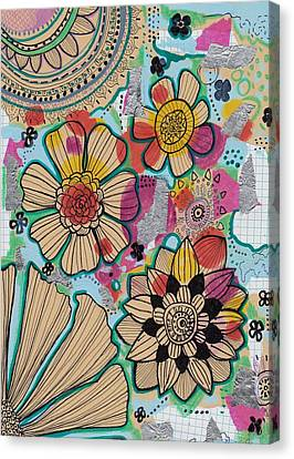 Flowers In The Sky Canvas Print by Rosalina Bojadschijew