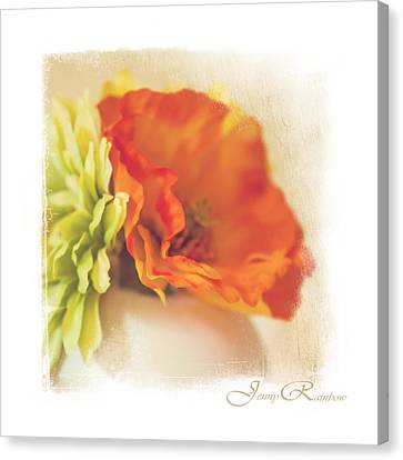 Flowers In Vase. Mini-idea For Interior Canvas Print by Jenny Rainbow