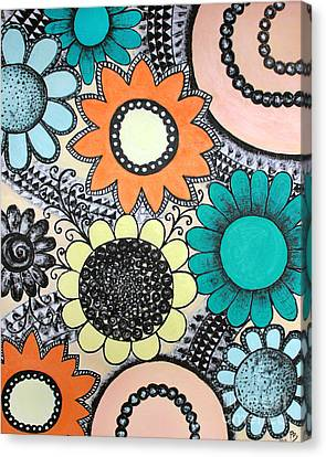 Flowers Paradise Canvas Print by Home Art