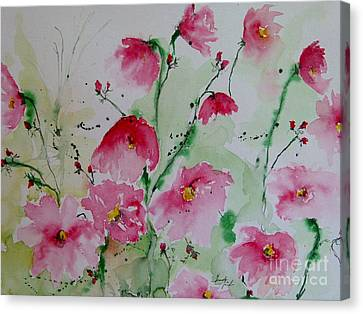 Flowers - Watercolor Painting Canvas Print by Ismeta Gruenwald