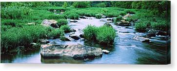 Flowing River, St. Francis River Canvas Print by Panoramic Images