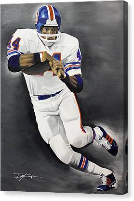 Floyd Little Canvas Print by Don Medina