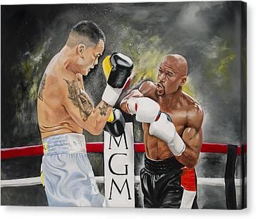 Floyd Mayweather Canvas Print by Don Medina