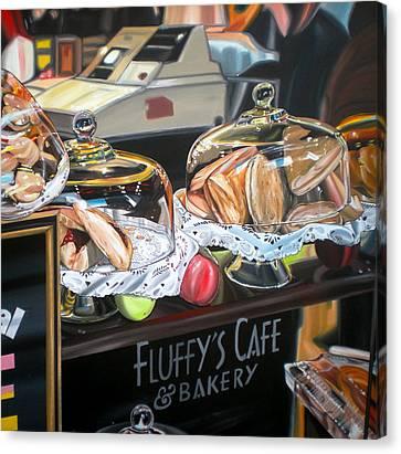 Fluffy's Cafe Canvas Print by Anthony Mezza