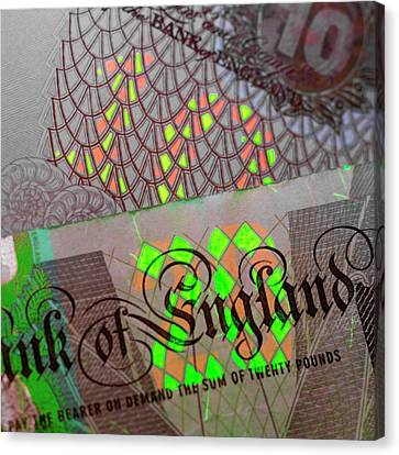 Fluorescent Banknote Printing Canvas Print by Science Photo Library