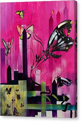 Flutter Canvas Print by Gregory Fricker