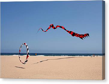 Fly A Kite - Old Hobby Reborn Canvas Print by Christine Till