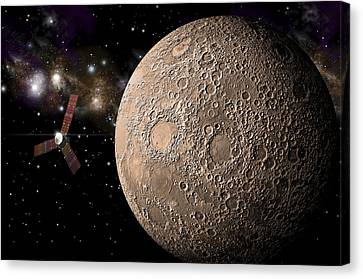 Fly-by Canvas Print by Marc Ward
