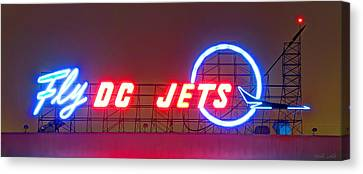 Fly Dc Jets Canvas Print by Heidi Smith