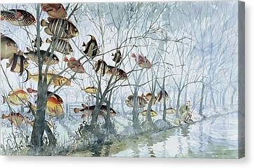 Fly Fishing Canvas Print by Lucy Willis