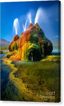 Fly Geyser Travertine Canvas Print by Inge Johnsson