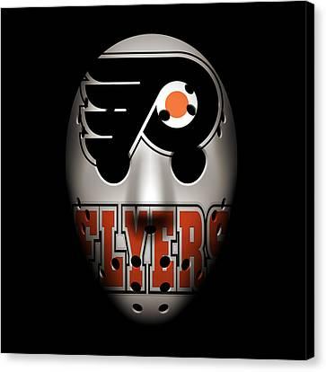Flyers Goalie Mask Canvas Print by Joe Hamilton