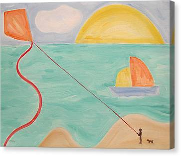 Flying A Kite Canvas Print by Patrick J Murphy
