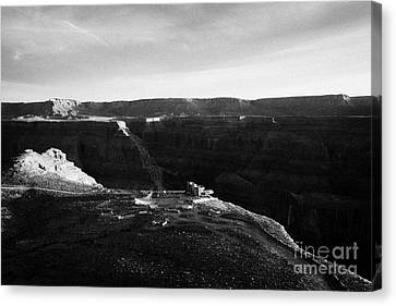 Flying Over Land Approaches To The Rim Of The Grand Canyon At Eagles Point In Hualapai Indian Reserv Canvas Print by Joe Fox
