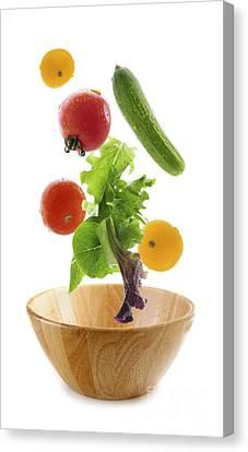 Flying Salad Canvas Print by Elena Elisseeva