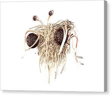 Flying Spaghetti Monster Canvas Print by Christian Darkin