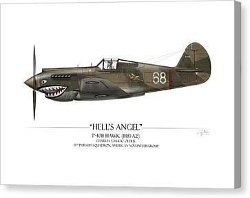 Flying Tiger P-40 Warhawk - White Background Canvas Print by Craig Tinder