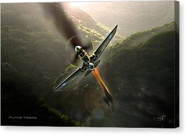 Flying Tigers Canvas Print by Peter Van Stigt