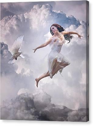 Flying Together Canvas Print by Gun Legler