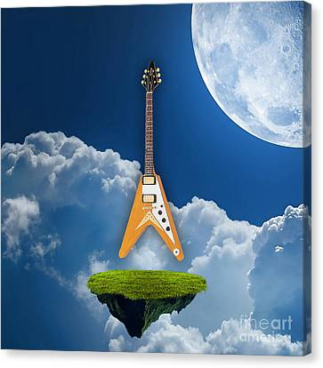 Flying V Guitar Canvas Print by Marvin Blaine