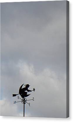Flying Witch - Piazza Palio - Khaoyai Thailand - 01131 Canvas Print by DC Photographer