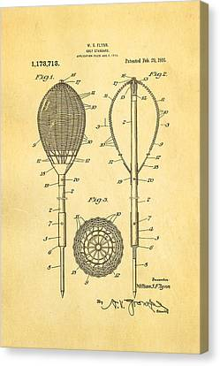 Flynn Merion Golf Club Wicker Baskets Patent Art 1916 Canvas Print by Ian Monk