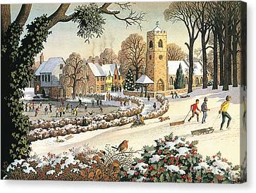 Focus On Christmas Time Canvas Print by Ronald Lampitt