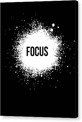 Focus Poster Black Canvas Print by Naxart Studio