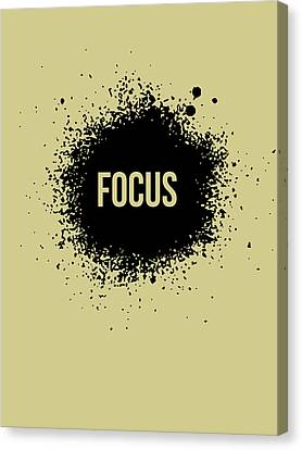 Focus Poster Grey Canvas Print by Naxart Studio