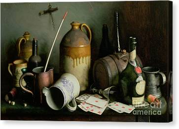 Foes In The Guise Of Friends Canvas Print by Edward George Handel Lucas