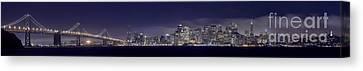Fog City San Francisco2 Canvas Print by Mike Reid
