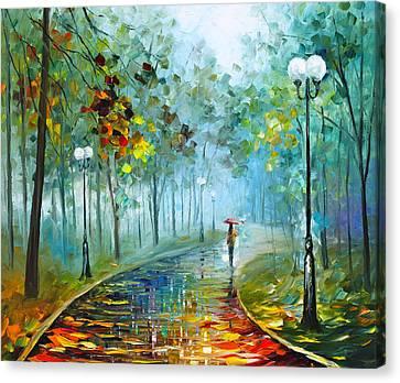 Fog Of Passion Canvas Print by Leonid Afremov