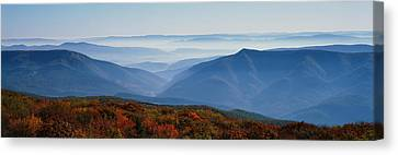 Fog Over Hills, Dolly Sods Wilderness Canvas Print by Panoramic Images