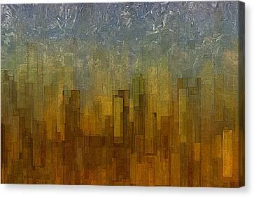 Fog Over Midtown Canvas Print by Jack Zulli