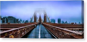 Fog Over The Brooklyn Canvas Print by Az Jackson