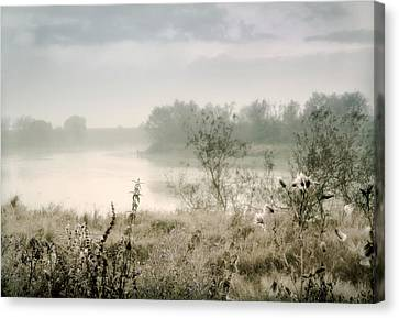 Fog Over The River. Stirling. Scotland Canvas Print by Jenny Rainbow