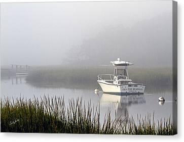 Foggy Anchor Canvas Print by Carl Jacobs