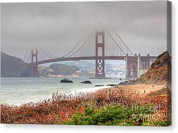 Foggy Bridge Canvas Print by Kate Brown