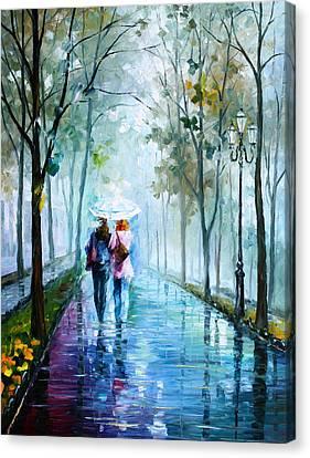 Foggy Day New Canvas Print by Leonid Afremov