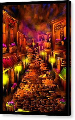 Foggy Dreams - Scratch Art Series - # 28 Canvas Print by Steven Lebron Langston