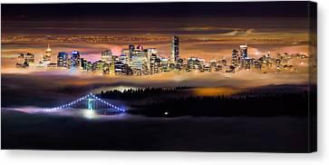 Foggy Night Canvas Print by Alexis Birkill